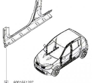 Element Inferior Cadru Lateral Dreapta Sandero 1.2 16v,1.4,1.5 Dci,1.6