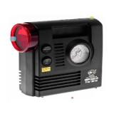 Compresor cu manometru,lanterna de urgenta in carcasa de plastic rezistent.